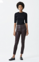 Citizens Of Humanity Rocket in Raisin Leatherette