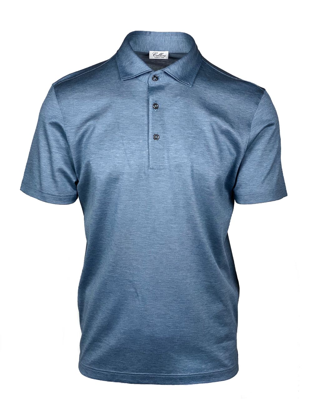 Cellini Polo Short Sleeve - Light Blue