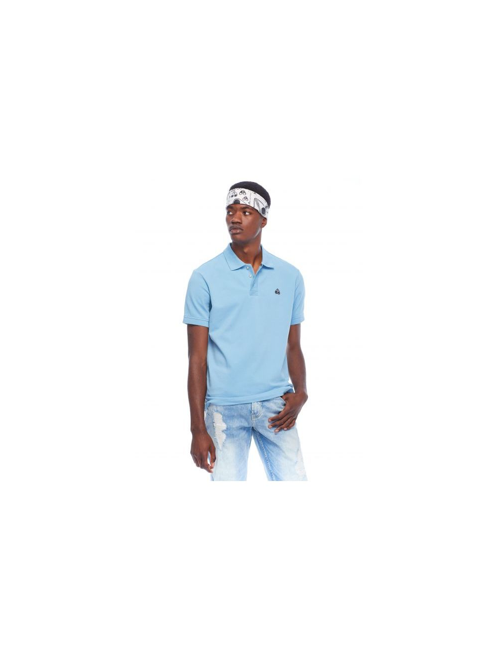 Moose Knuckles Polo - Licht Blauw