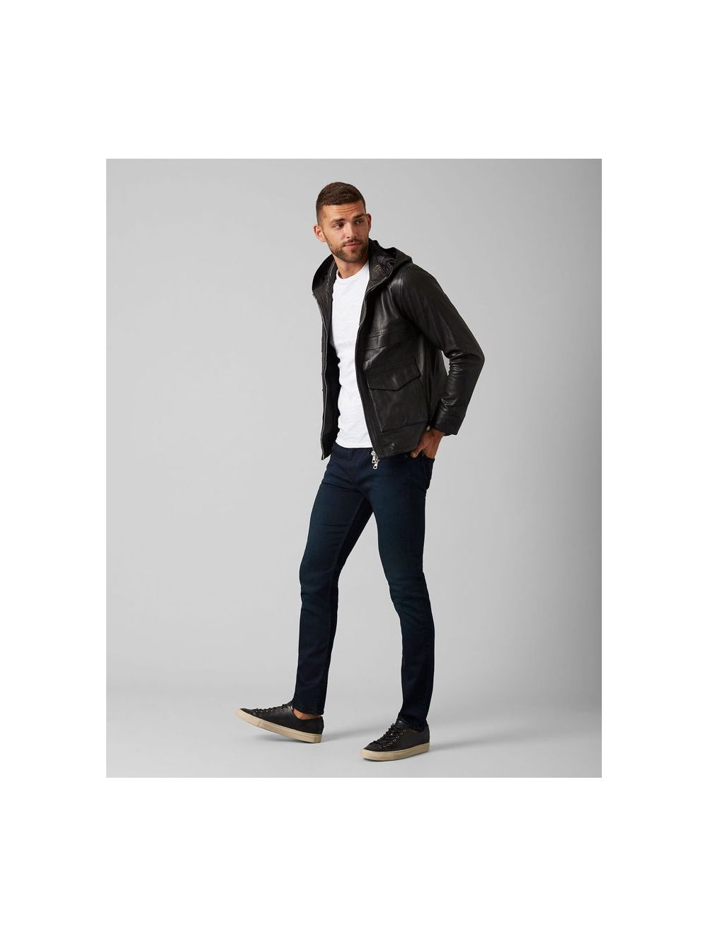 Seven For All Mankind Slimmy Tapered Blue Black