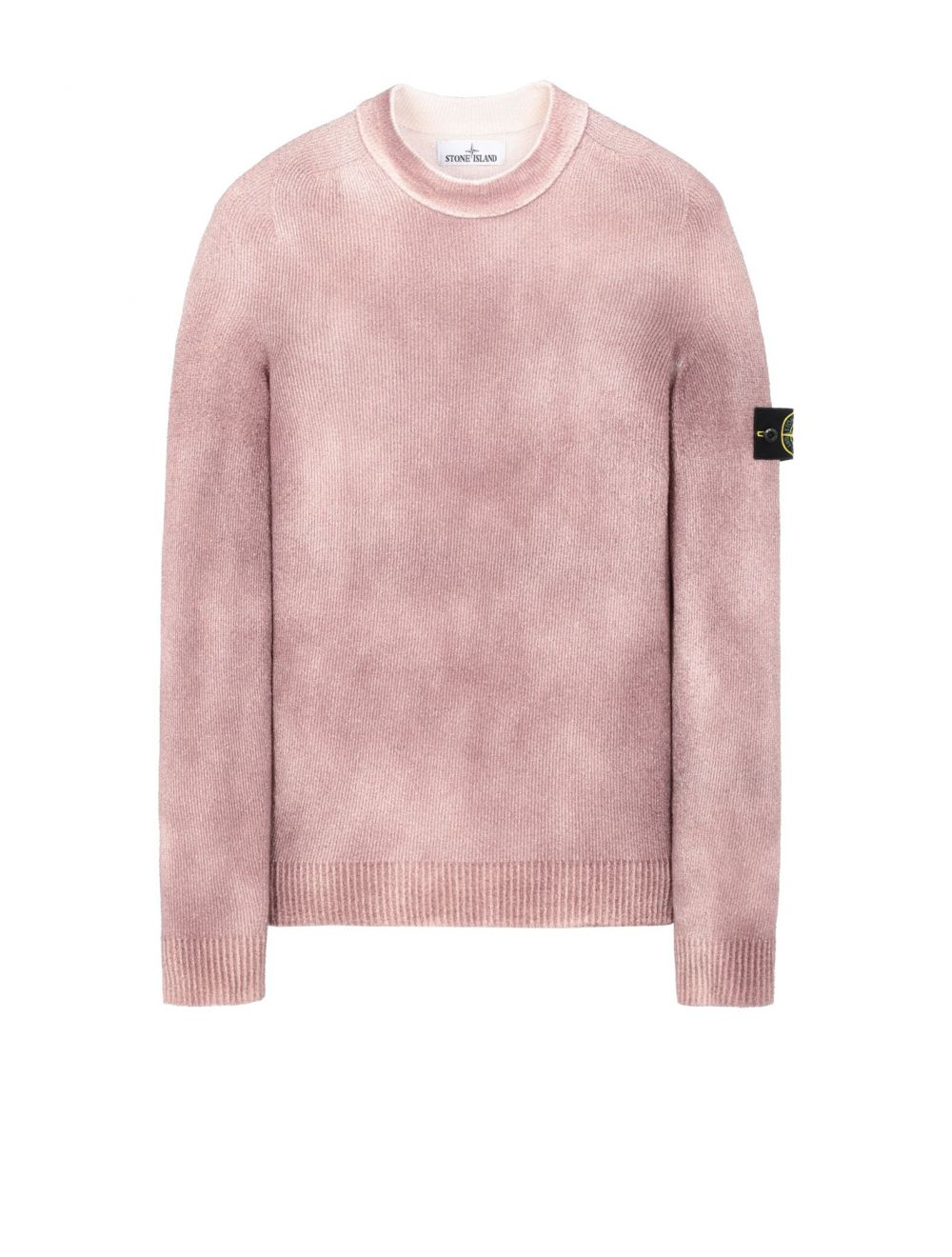 Stone Island Hand Sprayed Treatment  Knitted Crewneck - Mahogany Brown