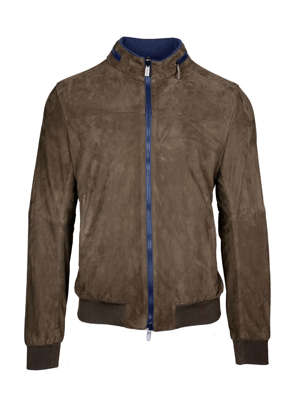 GIMO'S Reversible Leather Jacket - Brown